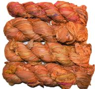 100g Sari SILK Ribbon Yarn Sunflower Orange