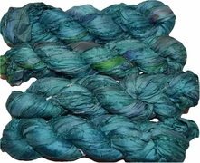 100g Sari SILK Ribbon Art Yarn Teal