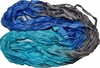 100g Sari SILK Ribbon Art Yarn Teal Silver