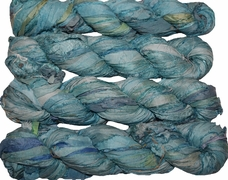 100g Sari SILK Ribbon Art Yarn Turquiose