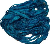 100g Sari SILK Ribbon Art Yarn Turquoise