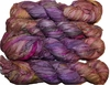 100g Sari SILK Ribbon Art Yarn Violet Orange