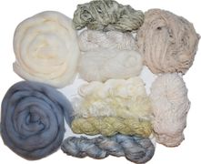 400gr Weaving Fiber Yarn Pack 10, Wool Roving, Weaving Supplies, Yarn and Sari silk Ribbon Variety Yarn Kit Pastels