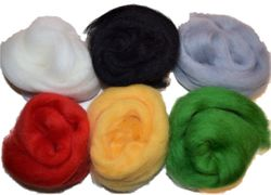 12 inch Long 6 Qty Boogie 100% Merino Wool Roving Fiber Main