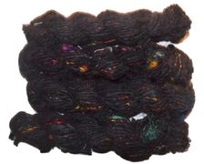 100g Black Silk yarn with pecks of Silk fiber