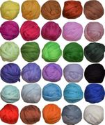 100% Merino wool roving fiber 30 colors Needle and Wet Felting, Wool Fiber for Spinning, 5 g each color