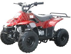 SOLD OUT KYMOTO Mountopz 110 Youth 110cc ATV Solid and Spider Colors  WITH REVERSE - With Rear Rack - Fast Free Shipping - FREE Goggles & Gloves! Auto-Trans - Remote Kill Switch