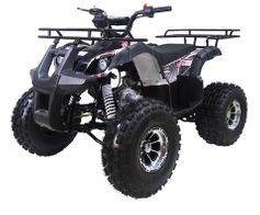 JET MOTO Ultra Wrangler X-4 125cc ATV 19 inch Chrome Rims, Dual Disc Brakes, Speed Controls for the parents