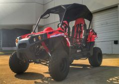 "Trailmaster Challenger 200 Extended Youth/Adult UTV -  Automatic with Reverse, <b><font color=""red""><font size=""4"">New Model Larger Engine </font></font></b>"
