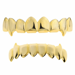 Gold 8/8 Vampire Fang Grillz Set