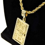 100 Dollar Bill Gold Rope Chain 24""
