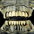 10K Solid Gold Plain Teeth Grillz Set