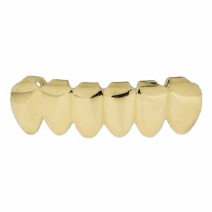 10K Solid Gold Bottom Teeth Grillz