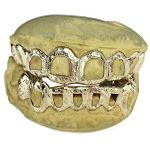 Real 10K Gold Diamond Cut/Dust Open Custom Grillz