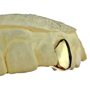 Real 10K Solid Gold Single Cap (Choose Any Tooth)