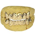 Real 10K Solid Gold Diamond-Cut Dust Custom Grillz