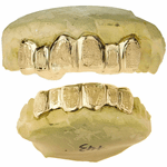 10K Solid Gold Dust Custom Grillz