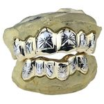 10K White Gold 2-Tone Starburst Custom Grillz