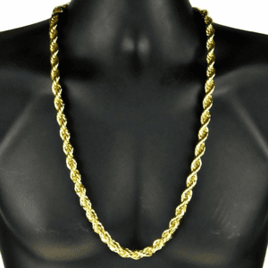 """30"""" Gold 10MM Rope Chain"""