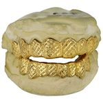 Real 14K Solid Gold Diamond-Cut Dust Custom Grillz