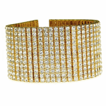 14K Gold Plated 12 Row Bracelet 9.25""