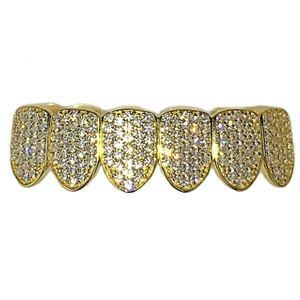 14K Gold Plated 925 CZ Bottom Grillz