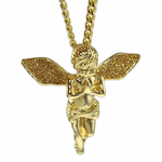 Angel Cuban Chain Golden Wings