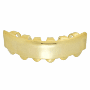 14K Gold Plated Bottom Bar Grillz