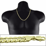 "Gold 24"" x 6MM Cuban Curb Chain"