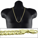 "Gold 30"" x 6MM Cuban Curb Chain"