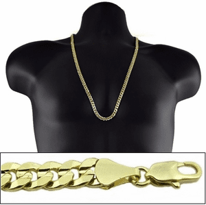 "Gold 30"" x 7MM  Cuban Curb Chain"