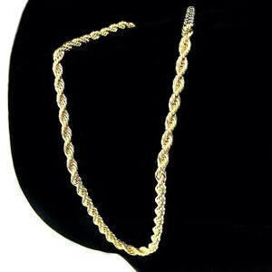 14K Gold Plated 4mm Rope Chain 30""