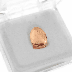 14K Rose Gold Plated Top Tooth