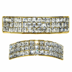 Gold 3-Row VIP Bling Grillz Set