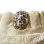 14K Gold Polynesian Engraved Custom Single Tooth Cap
