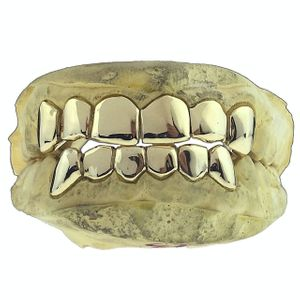 14K Gold Permanent Look Single Caps Custom Grillz