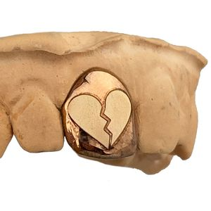 14K Rose Gold Broken Heart  (Any Tooth)