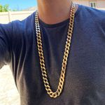 "33"" x 15MM Gold Cuban Chain"