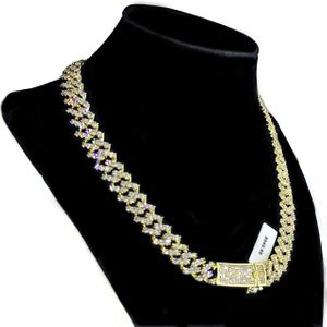 14K Gold Plated CZ Zigzag Chain 18""