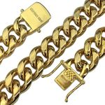 "Gold Plated 18"" x 14MM St. Steel Chain"