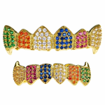 18K Gold Plate CZ Rainbow Fang Set