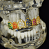 18K Gold Plate CZ Rainbow Top Grillz
