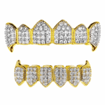 18k Gold Plated 2-Tone Fangs Set
