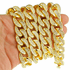 "18k Gold Plated 30"" x 18MM Iced Cuban"