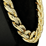 "18k Gold Plated 36"" x 18MM Iced Cuban"