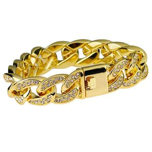 18K Gold Plated Bracelet 18mm x 8.5""