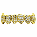 18K Gold Plated CZ Bottom Fang Grillz