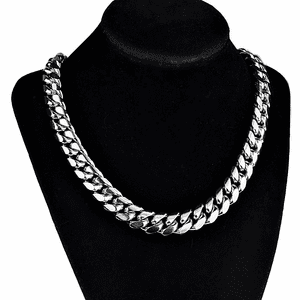 "20"" Stainless Steel Silver Choker"