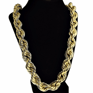 "20mm x 30"" Gold Plated Rope Chain"