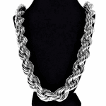 "20mm x 30"" Silver Tone Rope Chain"